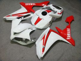 Yamaha YZF-R1 2007-2008 Carénage ABS Injection - autres - blanc/rouge