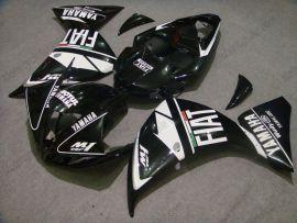 Yamaha YZF-R1 2009-2011 Carénage ABS Injection - FIAT - noir/blanc