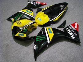 Yamaha YZF-R1 2009-2011 Carénage ABS Injection - Monster - noir/jaune