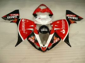 Yamaha YZF-R1 2009-2012 Carénage ABS Injection - Santander - rouge/noir