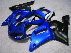 Yamaha YZF-R6 1998-2002 Carénage ABS Injection - Flame noir - noir/bleu