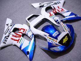 Yamaha YZF-R6 1998-2002 Carénage ABS Injection - FIAT - blanc/bleu