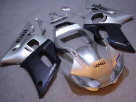 Yamaha YZF-R6 1998-2002 Carénage ABS Injection - autres - argent/noir