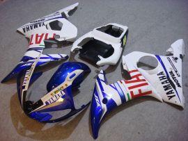 Yamaha YZF-R6 2003-2004 Carénage ABS Injection - FIAT - bleu/blanc