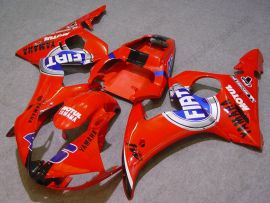 Yamaha YZF-R6 2003-2004 Carénage ABS Injection - FIAT - rouge