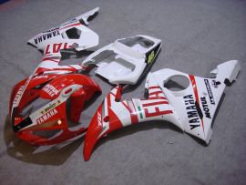 Yamaha YZF-R6 2005 Carénage ABS Injection - FIAT - blanc/rouge