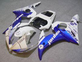 Yamaha YZF-R6 2005 Carénage ABS Injection - Jordan - bleu/blanc