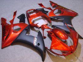 Yamaha YZF-R6 2003-2004 Carénage ABS Injection - autres - orange/noir