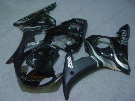 Yamaha YZF-R6 2003-2004 Carénage ABS Injection - Flame argent - noir