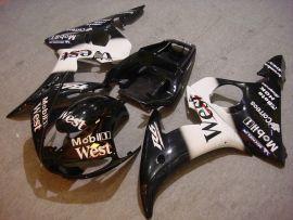 Yamaha YZF-R6 2003-2004 Carénage ABS Injection - West - noir/blanc