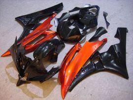 Yamaha YZF-R6 2006-2007 Carénage ABS Injection - autres - noir/orange