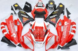 Yamaha YZF-R6 2006-2007 Carénage ABS Injection - Santander - rouge