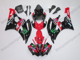 Yamaha YZF-R6 2006-2007 Carénage ABS Injection - Monster - rouge/noir