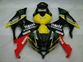 Yamaha YZF-R6 2008-2014 Carénage ABS Injection - Monster - noir/jaune/rouge