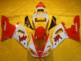 Yamaha YZF-R1 2000-2001 Carénage ABS Injection - autres - rouge/blanc