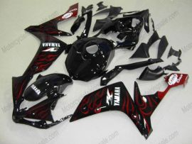 Yamaha YZF-R1 2007-2008 Carénage ABS Injection - Flame - noir/rouge