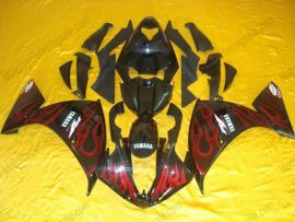 Yamaha YZF-R1 2009-2011 Carénage ABS Injection - Flame - noir/rouge