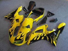 Yamaha YZF-R1 1998-1999 Carénage ABS Injection - Flame - jaune/noir