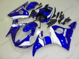 Yamaha YZF-R6 2005 Carénage ABS Injection - autres - bleu/blanc