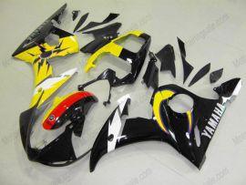 Yamaha YZF-R6 2003-2004 Carénage ABS Injection - autres - noir/jaune/blanc