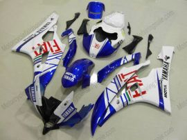 Yamaha YZF-R6 2006-2007 Carénage ABS Injection - FIAT - blanc/bleu