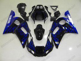 Yamaha YZF-R6 1998-2002 Carénage ABS Injection - Flame - noir/bleu