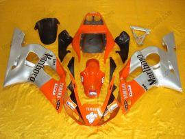 Yamaha YZF-R6 1998-2002 Carénage ABS Injection - autres - argent/orange