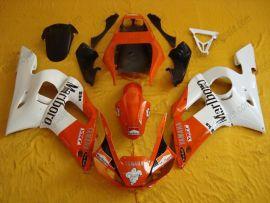 Yamaha YZF-R6 1998-2002 Carénage ABS Injection - autres - blanc/orange