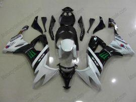 Kawasaki NINJA ZX10R 2008-2010 Carénage ABS Injection - Monster - blanc/noir