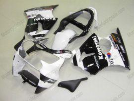 Kawasaki NINJA ZX6R 2000-2002 Carénage ABS Injection - Monster - blanc/noir