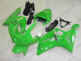 Kawasaki NINJA ZX6R 2003-2004 Carénage ABS Injection - autres - tout vert