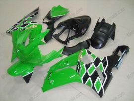 Kawasaki NINJA ZX6R 2003-2004 Carénage ABS Injection - autres - vert/noir