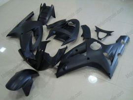 Kawasaki NINJA ZX6R 2003-2004 Carénage ABS Injection - Factory Style - tout noir(matte)