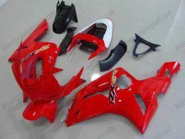 Kawasaki NINJA ZX6R 2003-2004 Carénage ABS Injection - autres - tout rouge