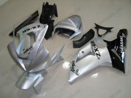 Kawasaki NINJA ZX6R 2003-2004 Carénage ABS Injection - autres - noir/argent
