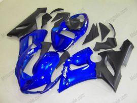 Kawasaki NINJA ZX6R 2005-2006 Carénage ABS Injection - autres - bleu/noir