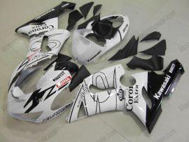Kawasaki NINJA ZX6R 2005-2006 Carénage ABS Injection - Corona - blanc/noir