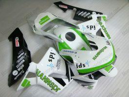 Honda CBR 600RR F5 2003-2004 Carénage race ABS Injection - HANN Spree - blanc/vert