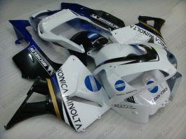 Honda CBR 600RR F5 2003-2004 Carénage ABS Injection - Konica Minolta  - blanc/noir/bleu