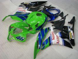 Honda CBR 600RR F5 2007-2008 Carénage ABS Injection - Nastro Azzurro  - vert/noir/blanc