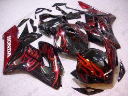Honda CBR1000RR 2004-2005 Carénage ABS Injection - Flame rouge - noir