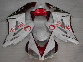 Honda CBR1000RR 2004-2005 Carénage ABS Injection - PRAMAC - rouge/blanc