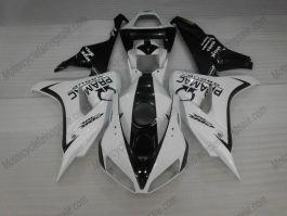 Honda CBR1000RR 2006-2007 Carénage ABS Injection - PRAMAC - blanc/noir