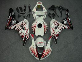 Honda CBR1000RR 2006-2007 Carénage ABS Injection - Flame rouge- noir/blanc