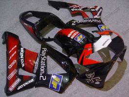Honda CBR900RR 929 2000-2001 Carénage ABS - Play Station - noir/rouge