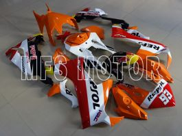 Honda CBR1000RR 2017-2019 Carénage ABS Injection - Repsol - Orange / Blanc